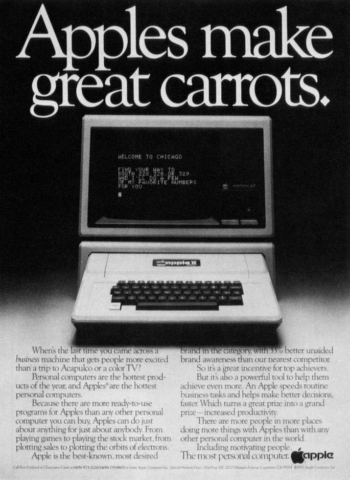 Apple II advertisement from 1983