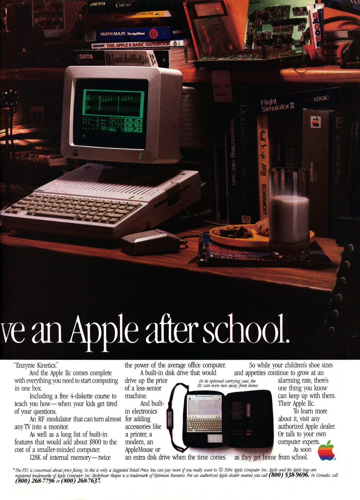 Apple iic advertisement from personal computing 1 1985 page 2
